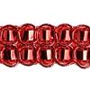 Metallic Red Double Box Braid